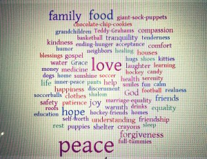 Kids Responses Word Cloud